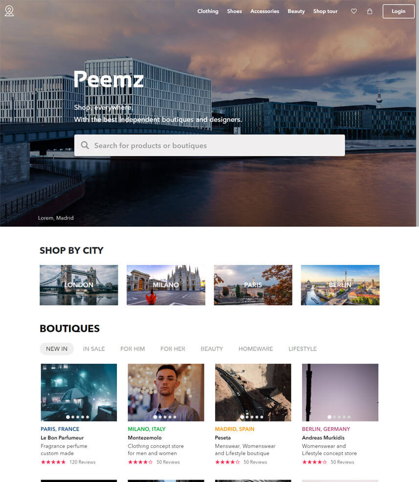 Webredone web design & development - Peemz homepage image