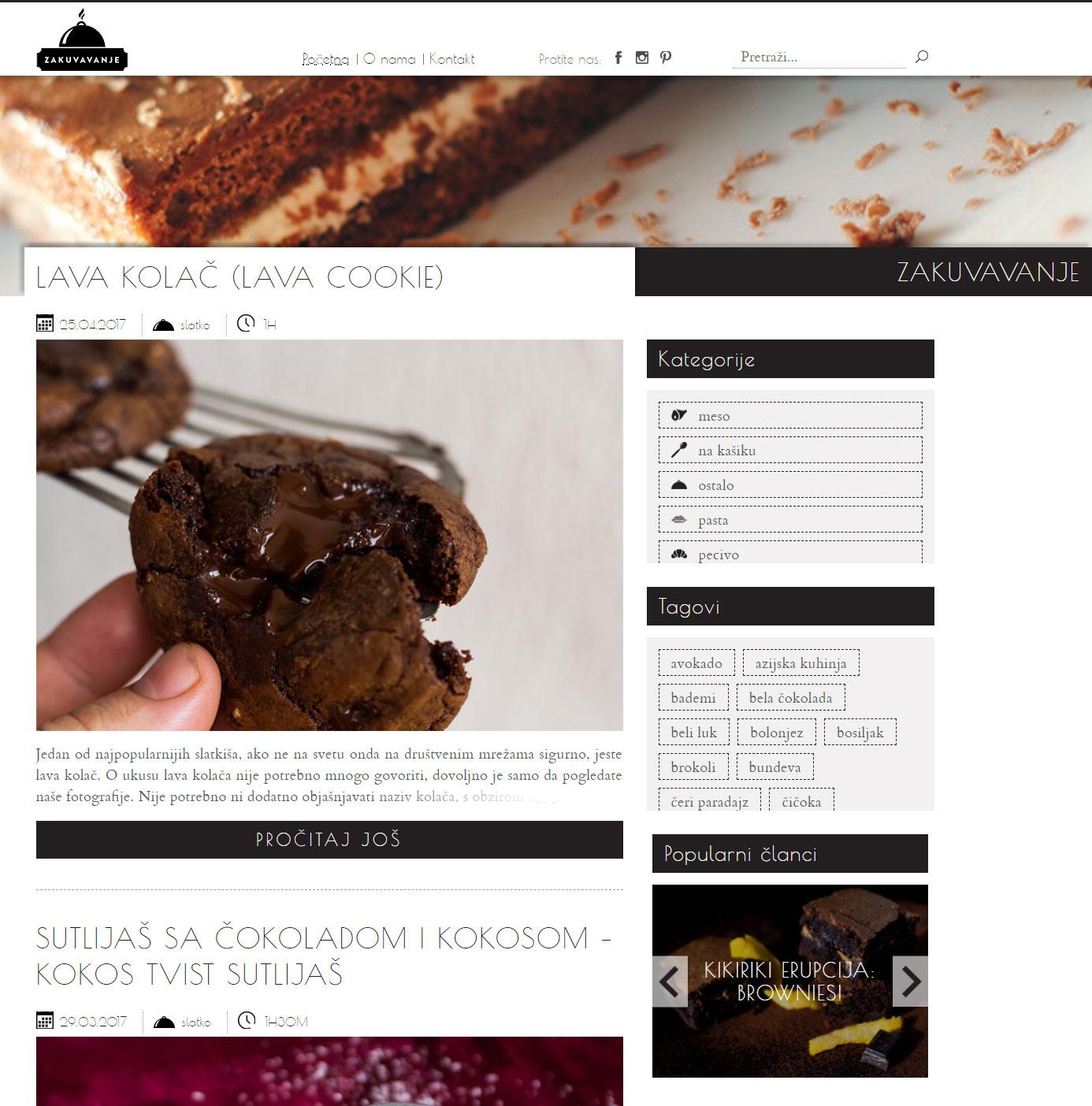 Webredone web design & development - Zakuvavanje website wordpress blog homepage image