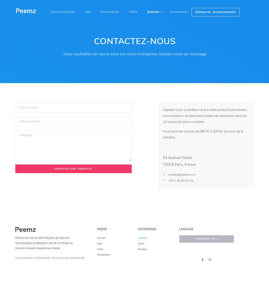 Webredone web design & development - Peemz website form image