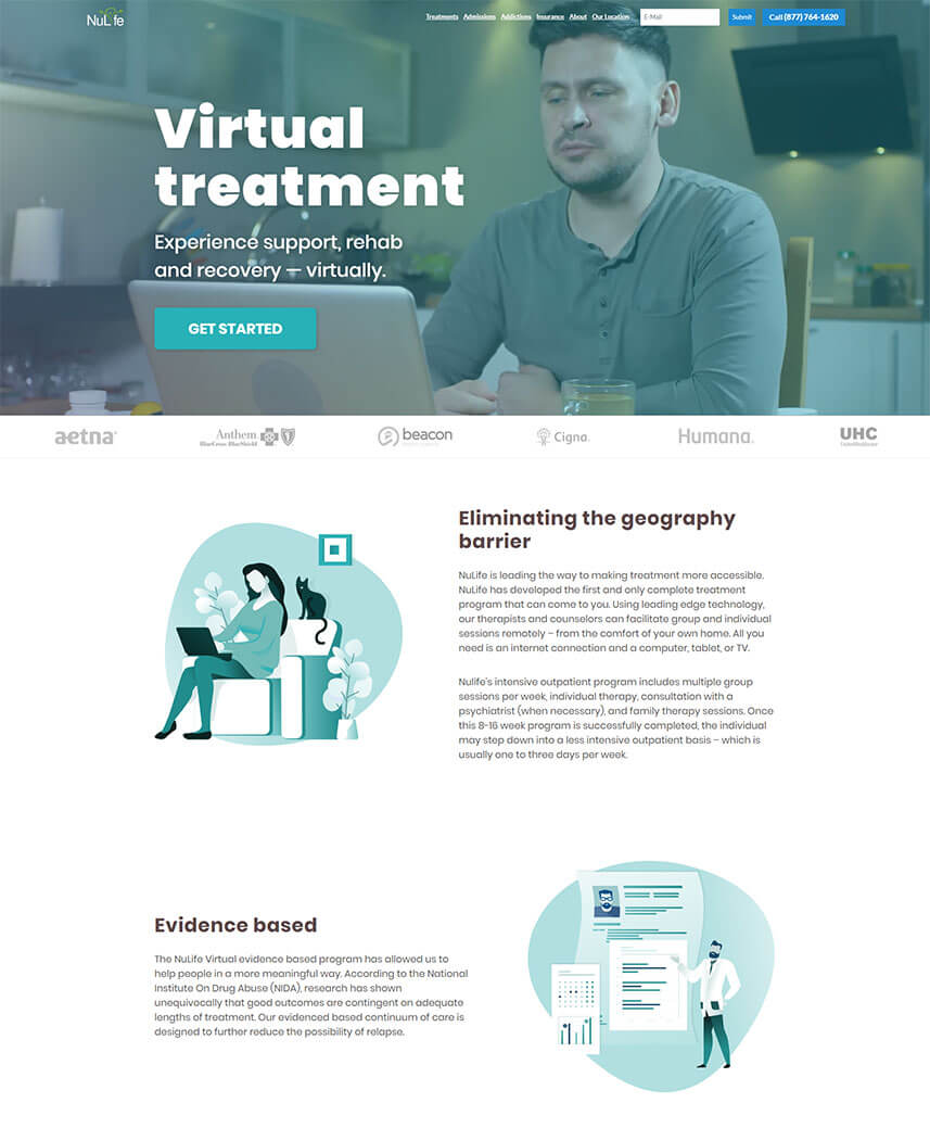webredone web design and development agency nuliferecovery redesign image 1