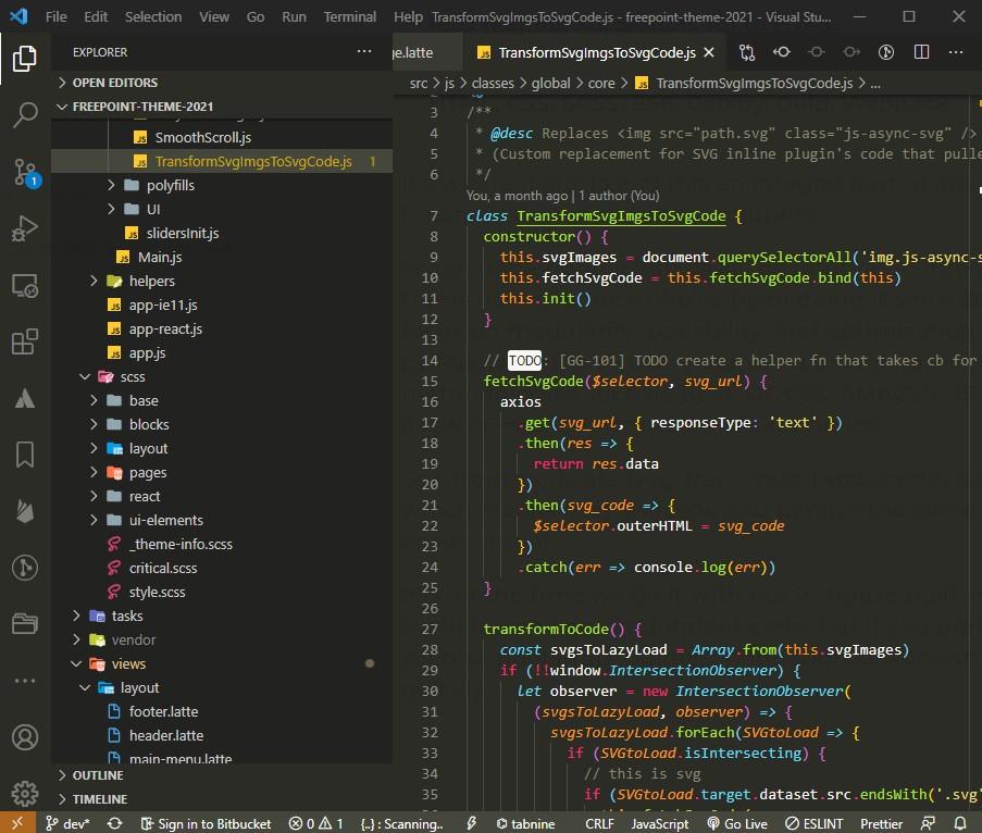 custom front-end development webredone.com